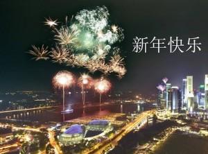 感悟人生-新年快乐2012-新加坡烟花